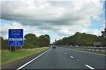 SE3873 : A168 road maintenance sign by Robin Webster