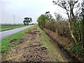 SK7896 : Owston Road Drain, newly cleared by Christine Johnstone