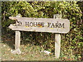 TM3073 : Red House Farm sign by Adrian Cable
