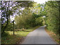 TM3074 : Swan Green Lane & the footpath to Cratfield Lane by Adrian Cable