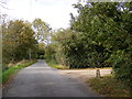 TM3074 : Swan Green Lane, Cratfield and the entrance to The Long House by Adrian Cable