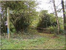 TM3074 : Footpath to Church Road, Cratfield by Adrian Cable