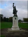 TQ1672 : War Memorial in Radnor Gardens, Twickenham by Eirian Evans