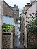 HU4741 : Lerwick: descending Hill Lane by Chris Downer