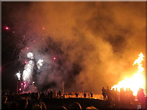 TQ8109 : Fireworks and bonfire on Pelham Beach by Oast House Archive