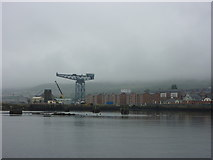 NS2975 : Doon The Watter - 25th June 2011 : View Towards The Entrance to the James Watt Dock, Greenock by Richard West