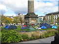 NT2574 : St Andrew Square camp site by M J Richardson