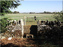 SP2504 : Stile on the footpath from Kencot to Alvescot by andrew auger