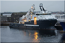 NJ9505 : Olympic Zeus at Clipper Quay, Aberdeen by Mike Pennington