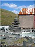NY2213 : Slate sculpture at Honister slate mine by Rod Allday