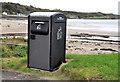 D4302 : Solar-powered litter bin, Islandmagee by Albert Bridge