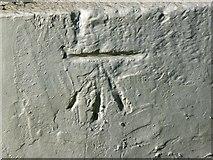 SY6878 : Ordnance Survey bench-mark close-up, Custom House Quay, Weymouth by Brian Robert Marshall
