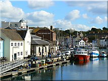 SY6778 : Pubs and a fish market on the quay, Weymouth by Brian Robert Marshall