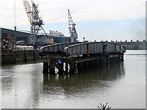 TF3243 : The Boston Docks railway swing bridge by John Lucas