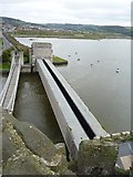 SH7877 : The tubular bridge as seen from the castle, Conwy by Meirion