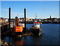 J5082 : Tug and a dredger, Bangor harbour by Rossographer