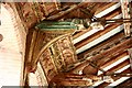 TL9979 : All Saints, Hopton - Roof detail by John Salmon
