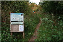 SU4726 : Sign at the foot of St Catherine's Hill by David Lally