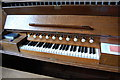 TQ5109 : Organ Console, Ripe church by Julian P Guffogg