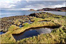 NR7287 : Pools on Eilean Traigh by Howard Cleveland