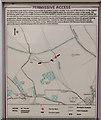 SU6124 : Permissive Path notice on Warnford Farm by Peter Facey