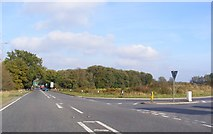 TM1478 : The A140 junction with the B1118 at Warren Hills by Adrian Cable