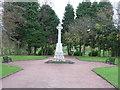 NS6568 : Stepps War Memorial by G Laird