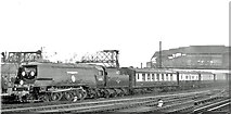 TQ2775 : Sir Winston Churchill's Funeral Train passing Clapham Junction by Ben Brooksbank