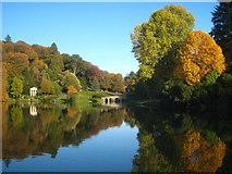 ST7733 : The Garden Lake at Stourhead by Rod Allday
