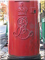 NZ2465 : Edward VII postbox, Queen Victoria Road, NE2 - royal cipher by Mike Quinn