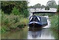 SJ6076 : Narrowboat near Acton Bridge, Cheshire by Roger  Kidd