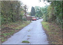 SK5802 : Old Saffron Lane near the St Mary's Allotments by Mat Fascione