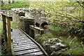 NT3337 : Culvert and sluice gate at Kirklands, Innerleithen by Jim Barton