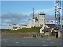 SH7683 : Great Orme summit buildings from the car park by Ruth Sharville