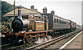 TQ3729 : Bluebell Railway train at Horsted Keynes in 1964 by Ben Brooksbank