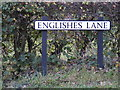 TM3686 : Englishes Lane sign by Adrian Cable