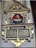 SK7953 : Memorial to John Johnson, St Mary Magdalene church, Newark by J.Hannan-Briggs