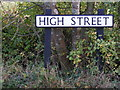 TM3683 : High Street sign by Geographer