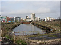 ST1974 : Former Bute Dry Dock, Cardiff Bay by Gareth James