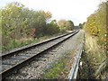 SJ6870 : Looking North along the railway track above Whatcroft Lane by Dr Duncan Pepper