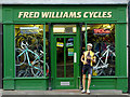 SO9198 : Fred Williams's bike shop in Wolverhampton by Roger  Kidd
