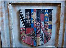 TQ8833 : Coat of Arms, Whitfeld Memorial, St Mildred's church, Tenterden by Julian P Guffogg