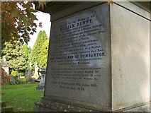NS4075 : Memorial to William Denny (detail) by Lairich Rig