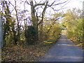 TM2565 : Saxtead Road & Footpath to the A1120 Saxtead Road by Adrian Cable