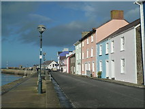 SN4562 : Aberaeron - looking towards the harbour mouth by Chris Allen