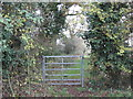 SJ6963 : Gateway at the start of a public footpath by Dr Duncan Pepper