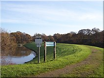 SD5811 : Adlington Reservoir causeway by Raymond Knapman
