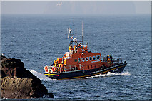 NT6779 : The Dunbar Lifeboat on a whale rescue call out by Walter Baxter