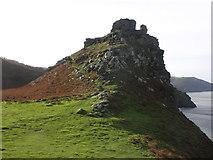 SS7049 : Castle Rock by Roger Cornfoot