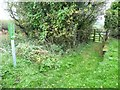 SE9991 : Footpath sign and gate, Limestone Road by Christine Johnstone